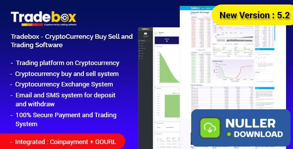 Tradebox v5.3 - CryptoCurrency Buy Sell and Trading Software
