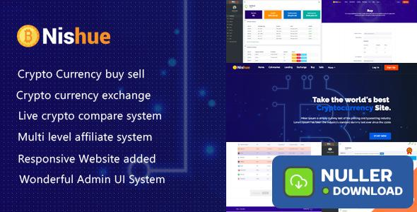 Nishue v1.9 - CryptoCurrency Buy Sell Exchange and Lending with MLM System | Live Crypto Compare
