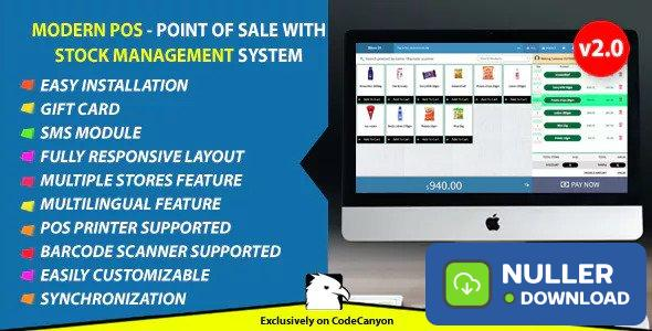 Modern POS v2.0 - Point of Sale with Stock Management System