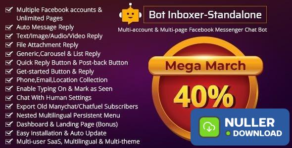 Bot Inboxer - Standalone v2.4.1 - Multi-account & Multi-page Messenger Chat Bot for Facebook - nulled