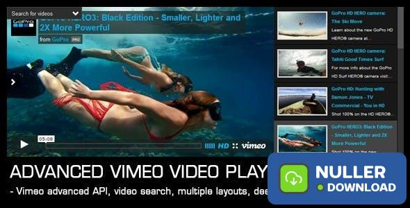 Advanced Vimeo Video Player