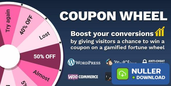 Coupon Wheel For WooCommerce and WordPress v3.0.6