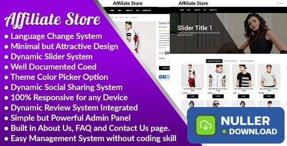 Affiliate Store v1.0 - Responsive Affiliate Store Management System - nulled