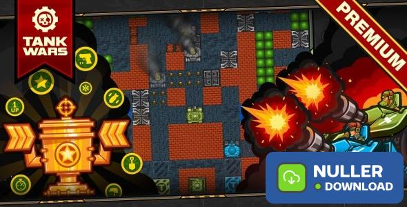 Tank Wars - HTML5 Game 120 Levels + Level Constructor + Mobile!