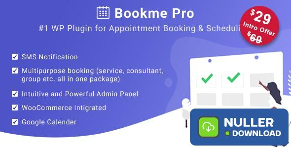 Bookme Pro v1.2 - WordPress Appointment Booking and Scheduling Software