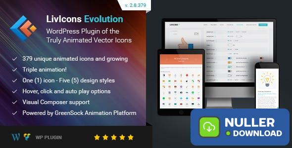 LivIcons Evolution for WordPress v2.8.379 - The Next Generation of the Truly Animated Vector Icons