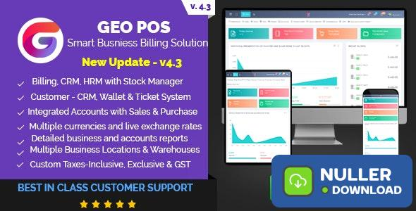 Geo POS v4.3 b79 - Point of Sale, Billing and Stock Manager Application