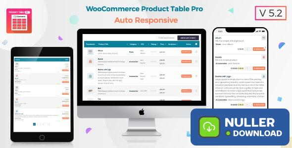 Product Table Pro v6.0.16 - WooCommerce Product Table view solution