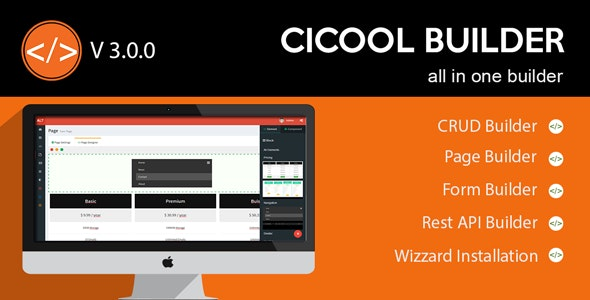 Cicool v3.1.0 - Page, Form, Rest API and CRUD Generator