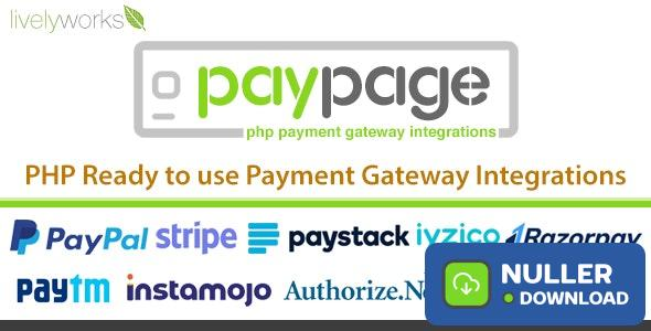 PayPage v1.2.0 - PHP ready to use Payment Gateway Integrations