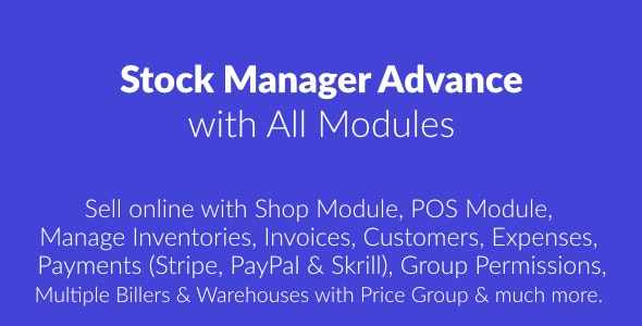 Stock Manager Advance with All Modules v3.4.25 - nulled
