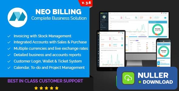 Neo Billing v3.6 - Accounting, Invoicing And CRM Software