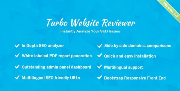 Turbo Website Reviewer v2.1 - In-depth SEO Analysis Tool - nulled