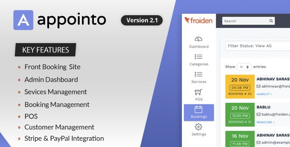 Appointo v2.1.3 - Booking Management System - nulled