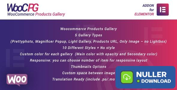 WooCommerce Products Gallery for Elementor v1.0 - WordPress Plugin