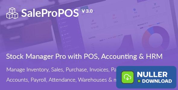 SalePro v3.1 - Inventory Management System with POS, HRM, Accounting - nulled