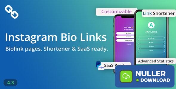BioLinks v4.3.1 - Instagram Bio Links & URL Shortener ( SaaS ) - nulled