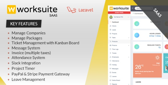 Worksuite Saas v3.6.1- Project Management System - nulled