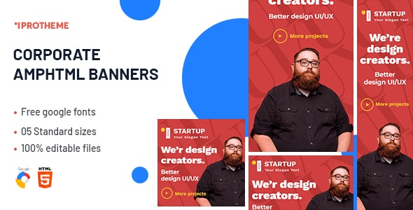 Corporate AMPHTML Banners Ads Template v1.0