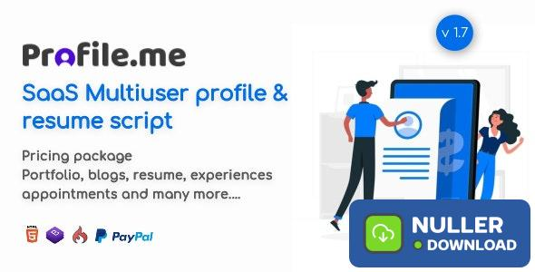 Profile.me v7.1 - Saas Multiuser Profile & Resume Script - nulled