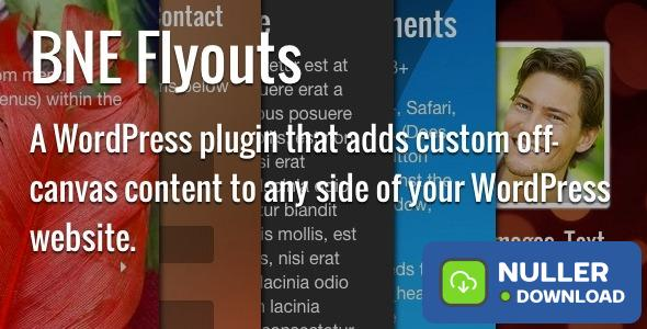Flyouts v1.4.2 - Off Canvas Custom Content for WordPress