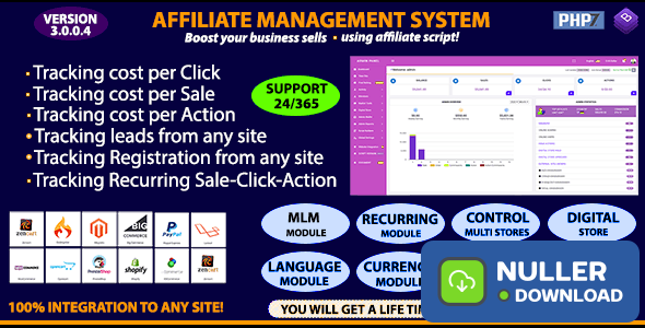 Affiliate Management System v3.0.0.4 - nulled