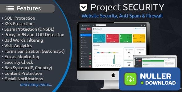 Project SECURITY v4.1 – Website Security, Anti-Spam & Firewall