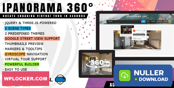 iPanorama 360° v1.6.2 - Virtual Tour Builder for WordPress