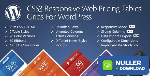 CSS3 Responsive Web Pricing Tables Grids v11.2