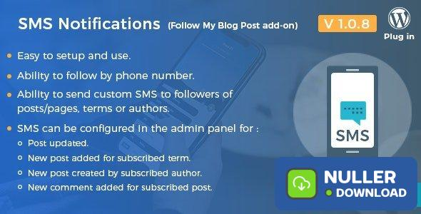SMS Notifications v1.0.8 - Follow My Blog Post add-on