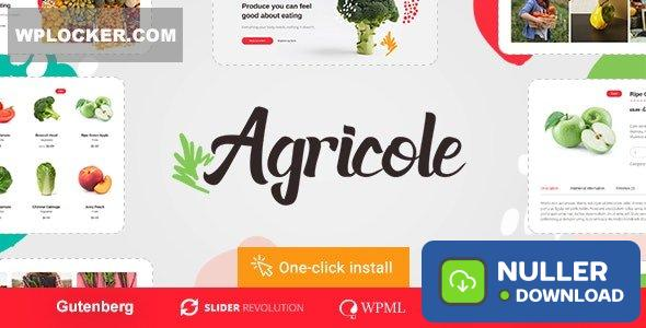 Agricole v1.0.3 - Organic Food & Agriculture WordPress Theme