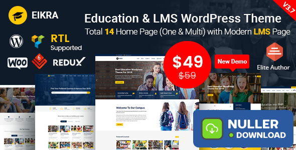 Eikra Education v3.8.3 - Education WordPress Theme