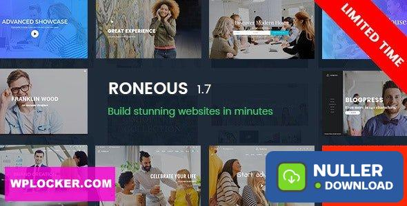 Roneous v1.8 - Creative Multi-Purpose WordPress Theme