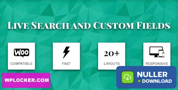Live Search and Custom Fields v2.6.9