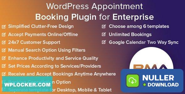 BMA v1.2.3 - WordPress Appointment Booking Plugin for Enterprise
