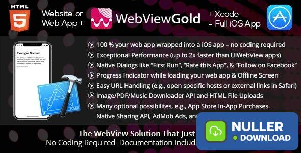 WebViewGold for iOS v7.1 – WebView URL/HTML to iOS app + Push, URL Handling, APIs & much more!