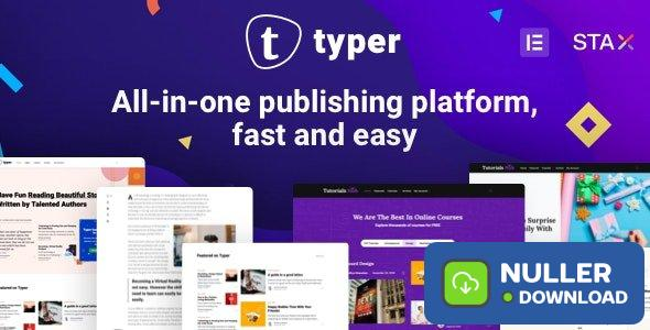 Typer v1.9.1 - Amazing Blog and Multi Author Publishing Theme