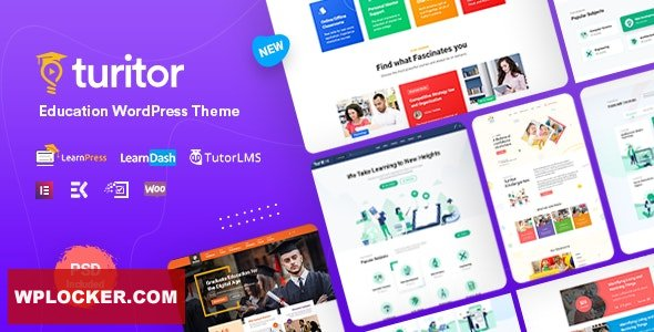 Turitor v1.1.8 - LMS & Education WordPress Theme