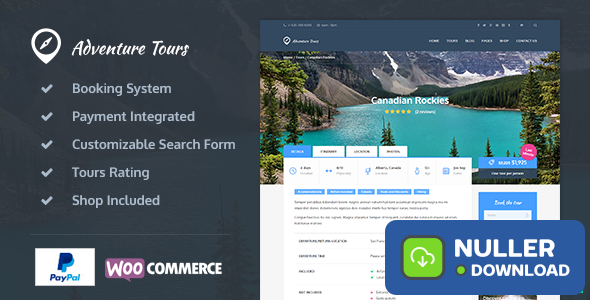 Adventure Tours v3.9.2 - WordPress Tour/Travel Theme