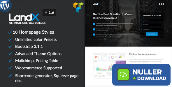 LandX v1.8.0 - Multipurpose Wordpress Landing Page