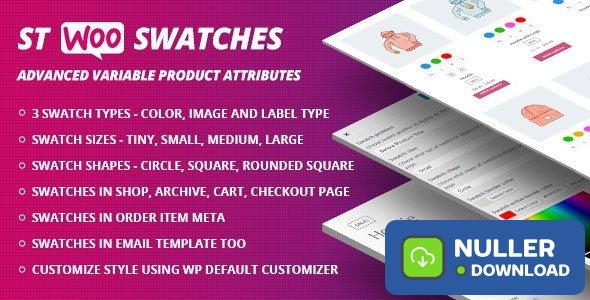 WooCommerce Swatches v1.1.1 ( Color, Image and Label Swatch )