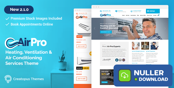 AirPro v2.6.1 - Heating and Air conditioning Theme