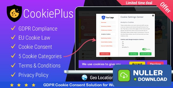 Cookie Plus v1.4.7 - GDPR Cookie Consent Solution