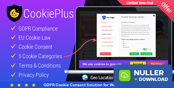 Cookie Plus v1.4.5 - GDPR Cookie Consent Solution