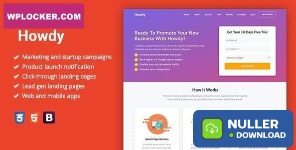 Howdy v1.0.3 - Multipurpose High-Converting Landing Page WordPress Theme