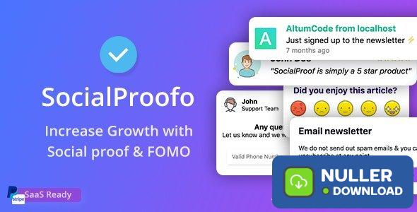 SocialProofo v1.7.5 - 14+ Social Proof & FOMO Notifications for Growth (SaaS Ready) - nulled