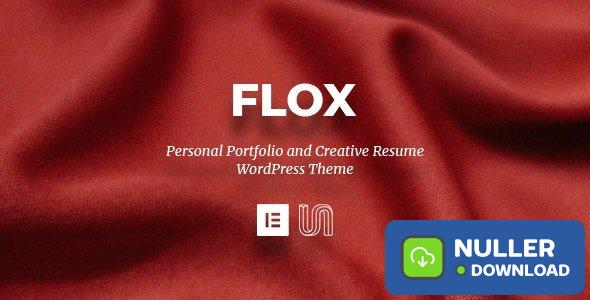 FLOX v1.2 - Personal Portfolio & Resume WordPress Theme