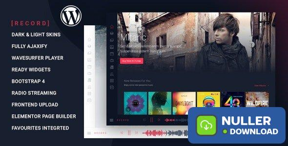 Rekord v1.4.1 - Ajaxify Music - Events - Podcasts Multipurpose WordPress Theme