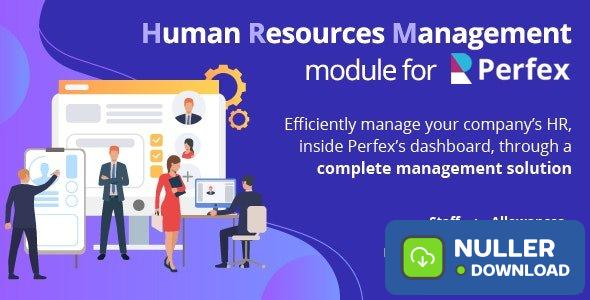 Human Resources Management v1.0 - HR module for Perfex CRM