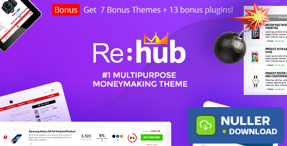 REHub v11.3 - Price Comparison, Business Community